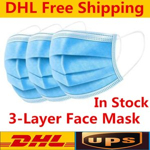 wholesale or retail Disposable Face Masks Thick 3-Layer Masks with Earloops for Salon, Home Use Comfortable in stock Mask