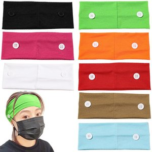 1pc Boho Cross Knotted Headbands With Button Solid Color Headwear Women Unisex Elastic Hair Band Yoga Running Hair Accessories Q bbyGlj