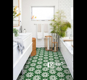 Nordic Green hexagonal small flower brick small fresh kitchen balcony flower slice bathroom wall and floor tiles