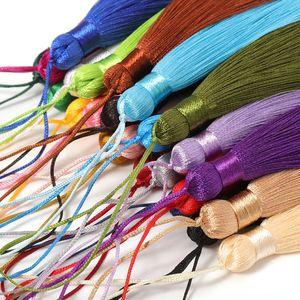 10pcs Brush Pendant Accessori per gli orecchini fai da te Gioielli per gioielli da 8 cm in raso di seta nappa a mano Artigianato artigianato fornitore h jllifc