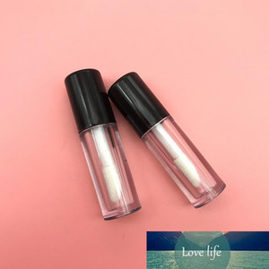 0.8ml Clear Mini Lip Gloss Tube Empty Lip Balm Containers With Black Lid for Lipstick Samples