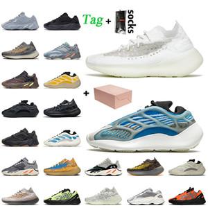 Горячие продажи с коробкой 380 Calcite Glow 700 V3 Azareth Женщины Мужская беговая обувь Kanye West Onyx Vanta Статические тренажеры размером 12