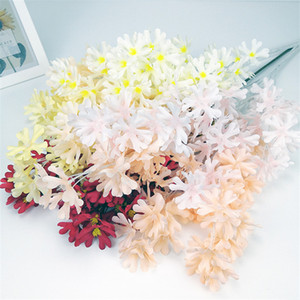 ARTIFICIALE FLOWER Branch Tessuto di seta Fiore Fiore Festa di nozze Casa Mall Mall Festival Decor Soggiorno Display Silk Flower Plants GWD4147