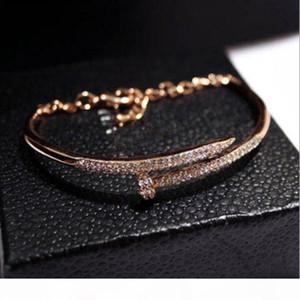 New European and American trend temperament diamond color bracelet bracelet nail polish genuine gold color female