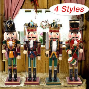 Christmas Painted Wooden Soldier Figurine Puppet Ornaments Home Decor New Year