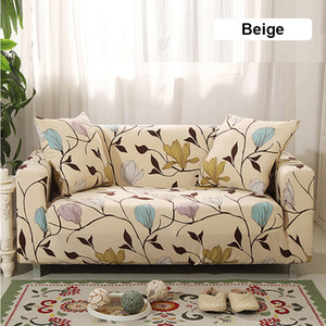 Elastic Stretch Sofa Cover for Living Room Morden Printed Floral Sectional Slipcovers Chair Couch Non-slip Cover 1 2 3 4 Seaters