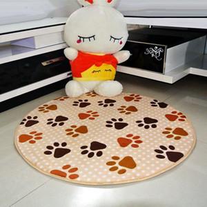 Zeegle Coral Fleece Carpets For Living Room Round Shape Thick Floor Carpet Bedroom Memory Foam Doormat Slow Rebound Home Rugs