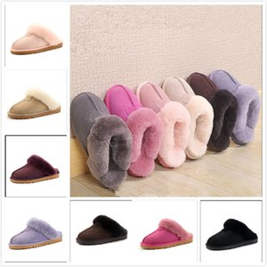 Hot sell Classic design W51250 Warm slippers goat skin sheepskin snow boots Martin boots short women boots keep warm shoes Size 35-44