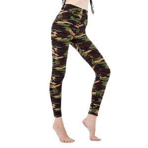 Visnxgi Femmes Entraînement Leggings Camouflage Femmes pour Leggins Graffiti Style Slim Stretch Pantalon Vert Jambing Green Fitness Pantalon