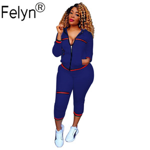 Felyn New Arrival Brand two pieces Tracksuits Women Set Ribbon O-neck Tops Long Pants Spring Autumn Sports Casual Suits 201007