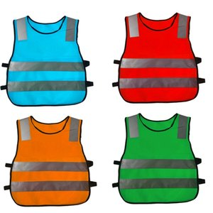 Children's safety clothing student reflective vest child safety vest high visibility warning patchwork vest safety construction T500396