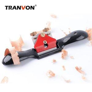 TRANVON ajustable Plano spokeshave sentido de la orientación Planer mano para herramientas de carpintería de madera Mano Planer