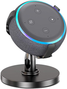 Nestdo Adjustable Stand for Echo Dot (3rd Gen), Smart Speaker Dot 3rd Generation Table Holder, 360° Adjustable Stand Bracket Mount