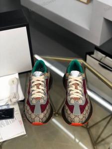 Gucci shoes Топ мужчин и повседневной обувь женщин папу кроссовки Париж мода роскошного дизайн обувь дама толстостенной подошва письмо лоскутных кроссовки размер 35-4