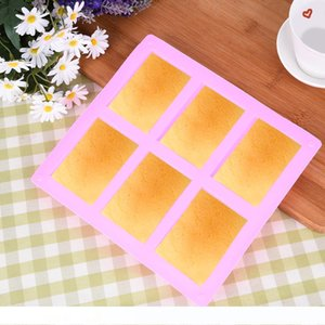 6 Cavities 3D DIY Handmade Rectangle Square Silicone Soap Mold Chocolate Cookies Mould Cake Decorating Fondant Molds