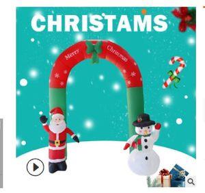 2021 heißen Verkauf 2.4m hohe Weihnachtsgartendekoration Veranstaltungsort Requisiten aufblasbaren Weihnachtsbogen Weihnachtsmann Schneemann