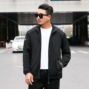 Men's Spring and Autumn 2020 New Trends Autumn Casual Slim Handsome Large Size Jacket 8XL 7XL 6XL 5XL