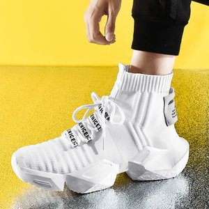 High Top Fashion Men's Sock Sneakers Men Casual Shoes Breathable Men Shoes Non-slip Comfortable Footwear Trend zapatillas 201008