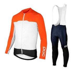 Poc Maillot cyclisme Set Top Qualité 2020 Hommes Équipe Printemps / Automne mince à manches longues Maillot cyclisme Vtt Maillots Ciclismo Bike Set Vêtements