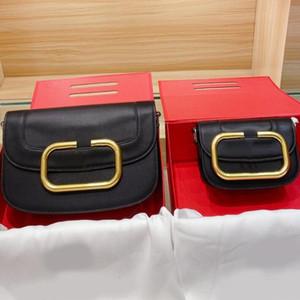 2021 Big V Bag Mulheres Crossbody Bags Senhora Bolsa Moda Cowhide Top Quality Couro Saco de ombro de couro pequena bolsa pequena