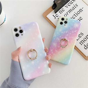 Arco-íris Gradiente Starry Sky Phone Case para 11 Pro Max 7 Plus 8 xsmax XR XS SE Suave Capa de Mármore IMD