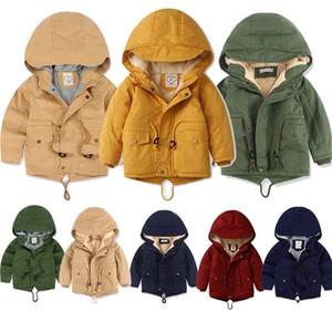 Hooded Warm Kids Boy Outerwear Spring Autumn Jacket For Boys Kids Coat Winter Fleece Jackets For Boy Trench Children's Clothing LJ201128