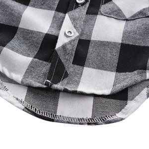 Autumn Warm Casual Baby Boys Clothes Fashion Long Sleeve Plaid Boy Shirts Tops Blouse