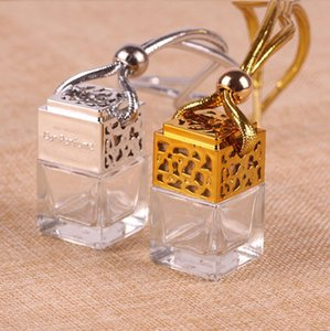 Perfume Bottle Car Hanging Essential Oils Diffuser Air Freshener Car Rearview Ornament Auto Decor Accessories 4 Designs Wholesale DHF1192