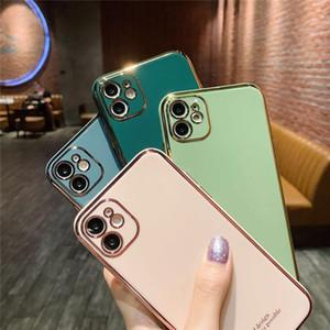 NOVO SE2020 alta qualidade chapeamento Camera Proteção Bling Case for Iphone 11 X 6 7 8