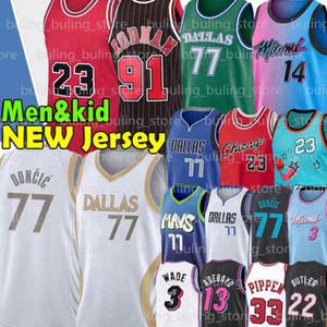 77 Doncic Jersey Wade MJ Luka 23 9 Dwyane Porzingis Dwayne Dennis 91 Rodman Scottie 33 Pippen Jimmy Tyler 14 Herro Butler Basket