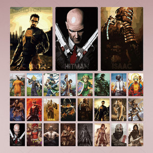 2021 Game Metal Poster Vintage Plaque Gamer Metal Sign Tin Sign Wall Decor for Game Room Man Cave Game Poster Home Craft Decor