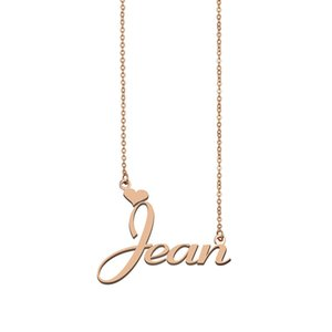 Jean name necklaces pendant Custom Personalized for women girls children best friends Mothers Gifts 18k gold plated Stainless steel
