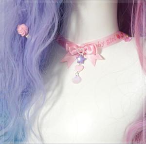 Chokers Tatlı Bebek Kız Kolye Lolita Şerit Ilmek Gerdanlık Kadınlar Takı B1472