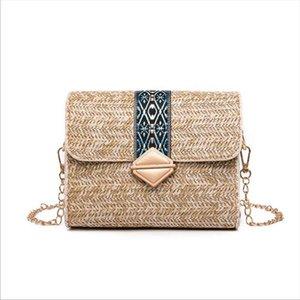 New Women Bag Lovely Handmade Rattan Wicker Straw Woven Bag Lady Fashion Summer Travel Beach Shoulder Crossbody Basket Purse