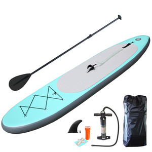 305x76x15cm Blue Premium Surf Board Durable inflatable SUP Paddle boarding Speed SUP Race board water sport platform
