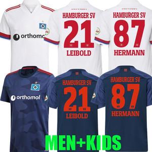 2020 2021 هامبورجر SV لكرة القدم الفانيلة الرئيسية Kittel Leibold Dudziak Terodde 20 21 هامبرغر Camisas de futbol رجل أطفال كرة القدم القمصان