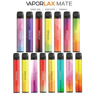 100% Original VAPORLAX MATE Disposable Device Pre-filled 3ml Cartridge Pod 500mAh Battery 800 Puff Vape Empty Pen VS Bar PLUS Genuine