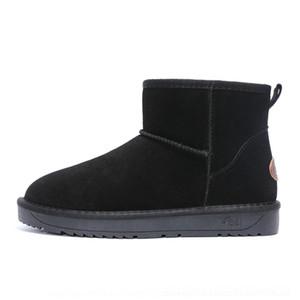 KRVX Boots Nouvelle Qualité Hiver Fashion Fashion Bottines De Neige Split Cuir Hommes Bravatrices Chaussures de plein air en peluche à fourrure chaude Plus la taille
