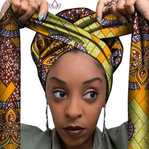 African Headwrap In Women's Hair Accessories Scarf Wrapped Head Turban Ladies Hair Accessories Scarf Hat Headwrap Nigeria LJ201026
