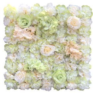 50 x 50CM Each Piece Artificial Silk Rose Hydrangea Flower Wall for Home Wall Decor Wedding Backdrop Centerpieces Decorations