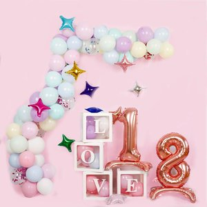 3D stand number 2 ballons 32inch gold silver Foil globos Birthday Party Decorations Kids Balls baby shower anniversary digit toy