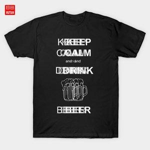 Mantenha a calma e beba T-shirt Festa de cerveja Beber Mantenha a Tipografia Calma Texto Design Graphic Design Quotes Celebration1