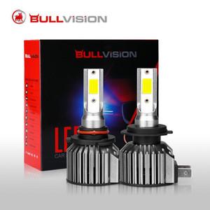 BULLVISION H7 LED Car Headlight Bulb 6000K 8000K Wireless Turbo Headlamps 12000LM H4 3 4 9005 9006 H11 H8 H9 Plug&Play Lamps