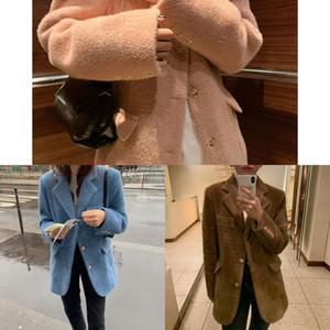 Mozuleva 2020 Sıcak Kürk Kadınlar Kore Pembe Kış Coat RP59 için şık Yünlü