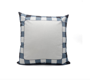 sublimation blanks Pillow Case 40*40cm Grid Heat Transfer Throw Cushion Cover 3 Colors Home Sofa Pillowcases 7755