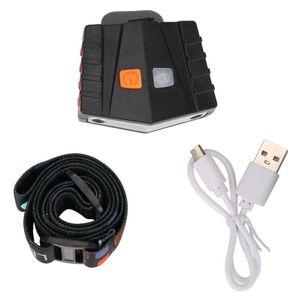 COB LED Headlamp Cap Light Durable USB Charging Touch Sensor Convenient Fishing Head Torch Clip Hat Lantern Energy Saving