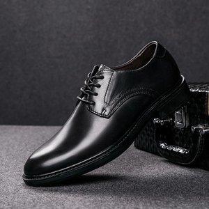 Men Dress Shoes Men Formal Shoes genuine Leather Luxury Fashion Groom Wedding Oxford Dress party flats