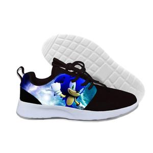 Sonic Hedgehog горячий мультфильм 3D печать девочек мальчиков легкие кроссовки детей дышащие бегущие ботинки подарок для детей