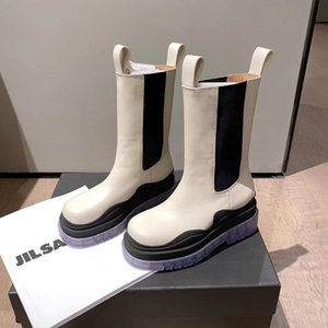 2020 Top Fashion boot MID-CALF BOOTS IN STORM CUIR women platform boots new Marque lady boot luxe design women boots