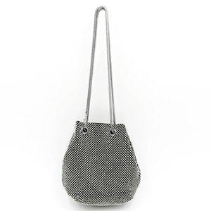 Блеск атлас Rhinestone мешок плечо вечер женщины партия Ковш сумка Элегантные сумки Tote большая емкость плечо мешок Elegant